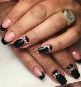 Маникюр педикюр наращивание ногтей шеллак