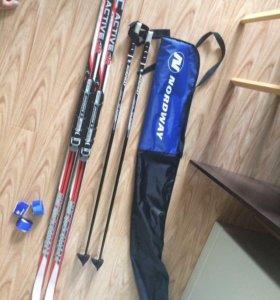 Комплект лыжи-палки-чехол