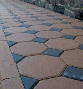 Укладках тротуарной плитки брусчатка асфальта