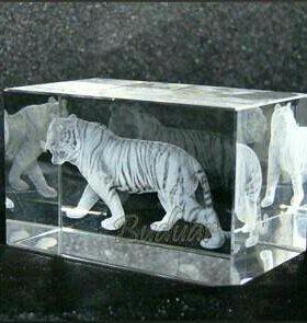 Тигр 3д картина в хрустале