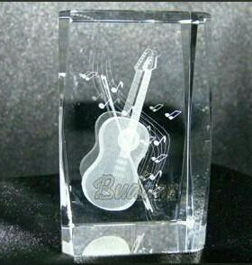 Музыка гитара ноты смычок картина 3д в хрустале