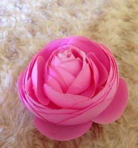Роза, брошка, заколка( 2 в одном)