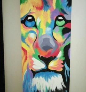 Картина Lion 200*90cm