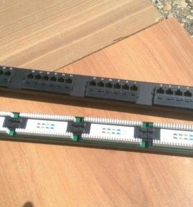"""Патч-панель UTP, 19"""", 24 порта RJ45, cat.5е, 1U"""