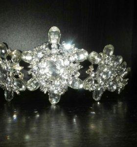 Свадебная корона (! + серьги в подарок !!!!))