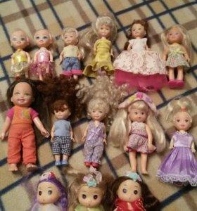 15 маленьких кукол 9-15 см