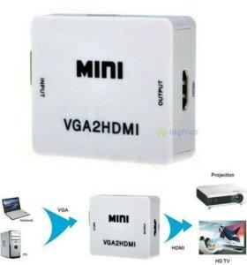 Конвертер переходник VGA - hdmi + подача звука