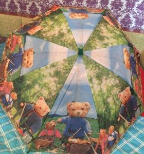 Детский зонтик с мишками