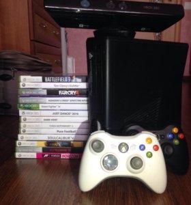 Microsoft XBOX 360 (250Gb) + Kinect + 15 игр