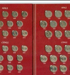 Набор монет 1 и 5 копеек СПМД,ММД 1997-2014