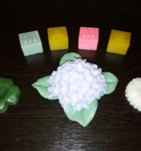 Мыло, набор, гортензия, цветы