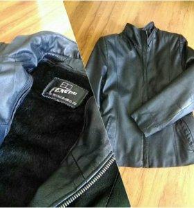 Пиджак демисезонный кожаный