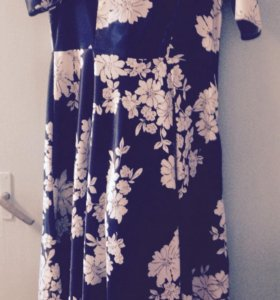 Платье атласное в пол