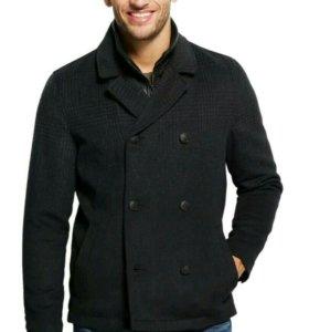 Новое пальто-куртка мужское утепл Guess L