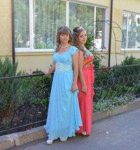 Продам голубое платье
