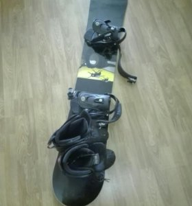 Сноуборд,крепа и ботинки