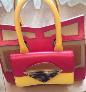 Новая кожаная сумка SARA BAttaglia - Оригинал !!!