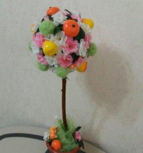 """Топиарий """"Цветы и фрукты"""""""
