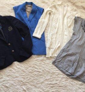 Пиджак +жилет+ кардиган +туника
