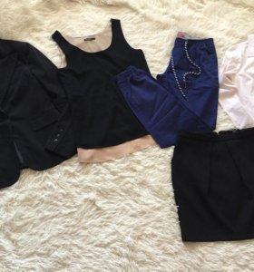 Пиджак+ блузка 2 шт +юбка +штанишки
