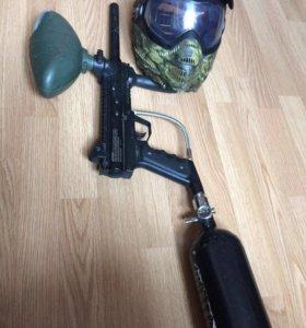 Маска и ружьё для пинбола
