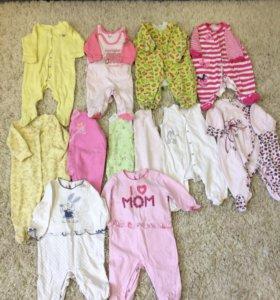 Одежда для девочки от 0 до6 месяцев