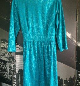 Платье из гепюра
