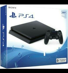 Sony Playstation 4 + две игры