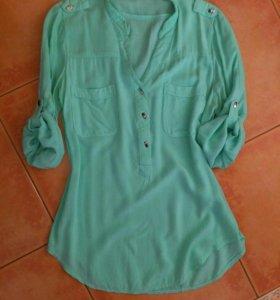 Мятная блузка