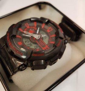 Часы G-Shock черные с красными вставками