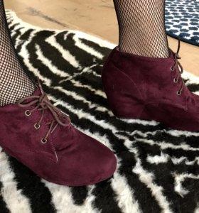 Ботильоны, туфли замшевые