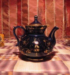 Кобальтовый чайный сервиз, Гжель ( СССР)