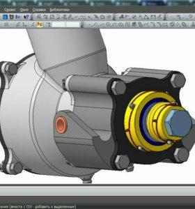 Работа в Компас 3D, SolidWorks