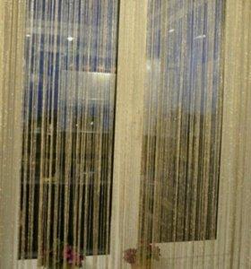 Новая нитяная штора (кисея)