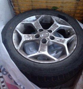 Литые диски и зимняя резина для форд