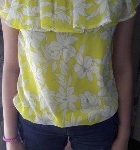 Блуза жёлтая размер 42