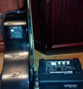 Эл аккустика Fender cd 60 ce + комбик vox mini3