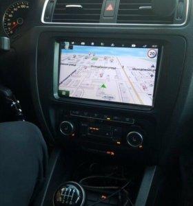 "Магнитола 9"" volkswagen polo passat skoda Android"