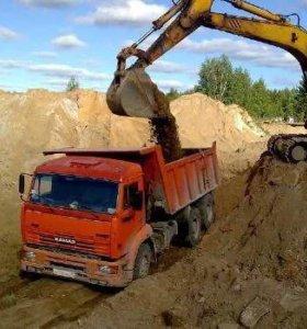 Доставка песка навоза вывоз мусора и грунта