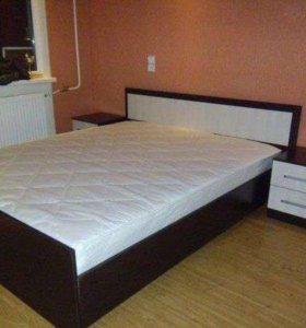 Двуспальная кровать с матрасом Фиеста