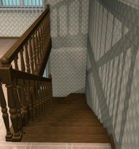 Лестница деревянная , металическая .