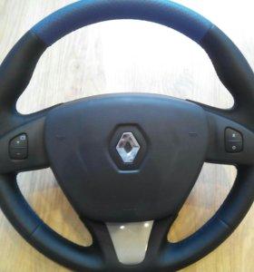 Кожаные рулевые колеса на Renault с подогревом