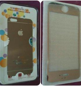 3 D стекло двухстороннее на iPhone 5S.