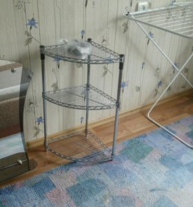Зеркало для ванной; угловая полка