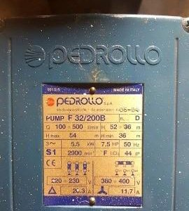 Насос центробежный pedrollo pump F32/200B