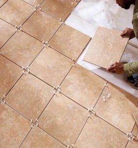 Укладка плитки на пол и стены