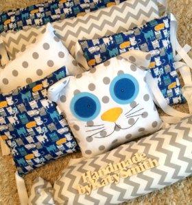 Бортики-подушки, на заказ.