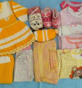 Пакет одежды для девочки от 68 р-ра