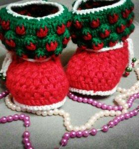 Пинеточки ручной вязки