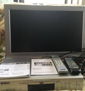 Телевизор Sony Bravia KDL 26U2000 и видеоплеер